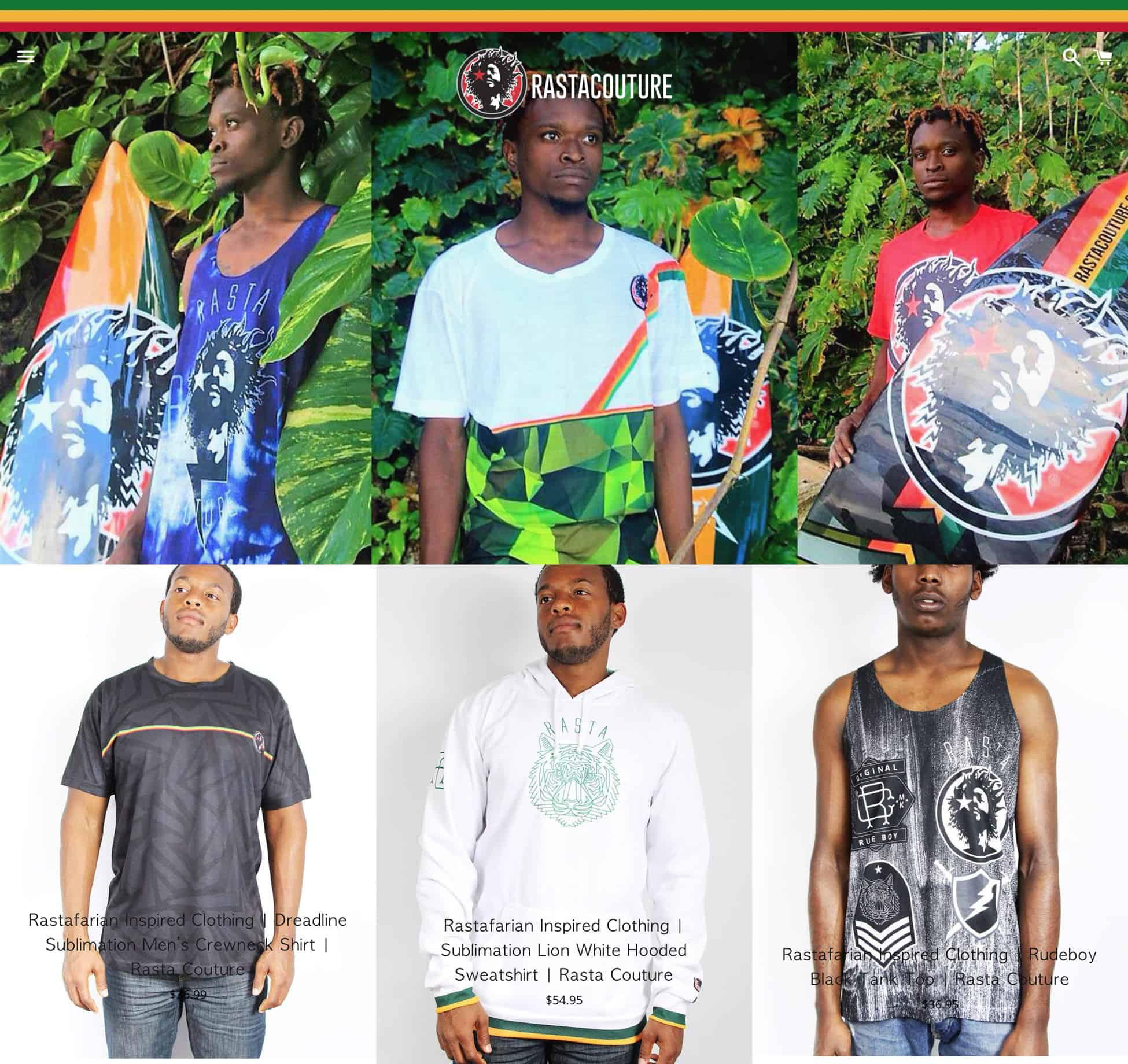 Rasta Couture Product Page